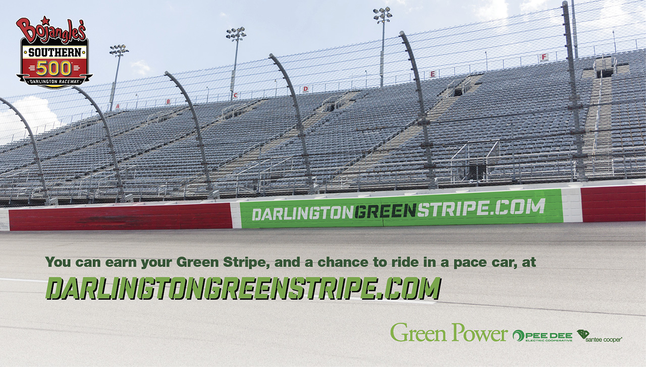 Darlington Green Stripe