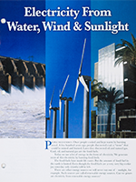 Electricity From Water, Wind & Sunlight