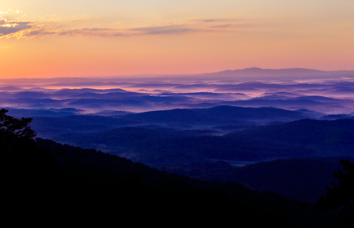 Spectacular views of the Blue Ridge Mountains