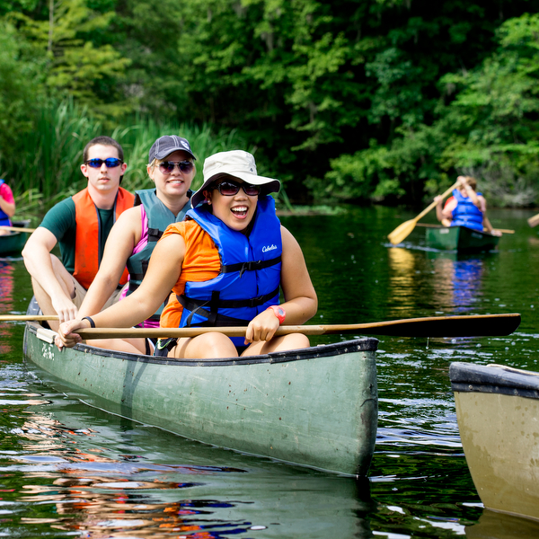 Group in a canoe